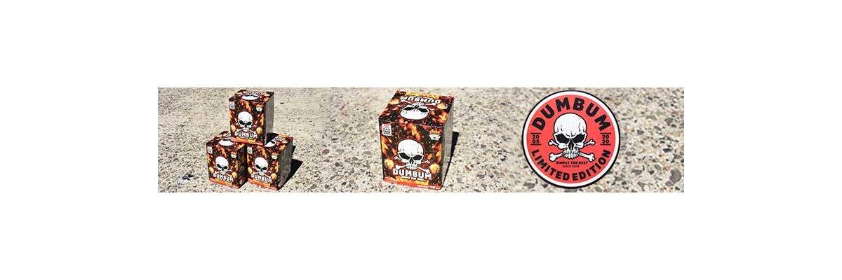Dumbum - 16 schot vuurwerk cake - Dumbum Vuurwerk , topkwaliteit voor een goedkope prijs