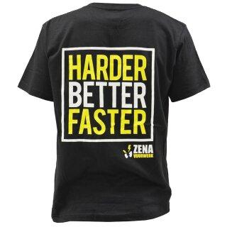 Zena - T-Shirt -Harder Better Faster- L