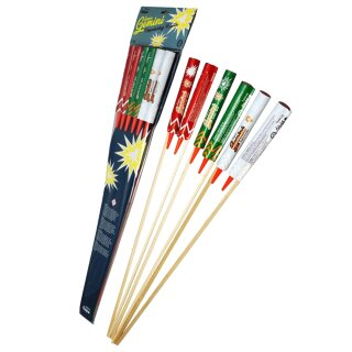 Funke Super-Gemini-Raketen (6er Pack)